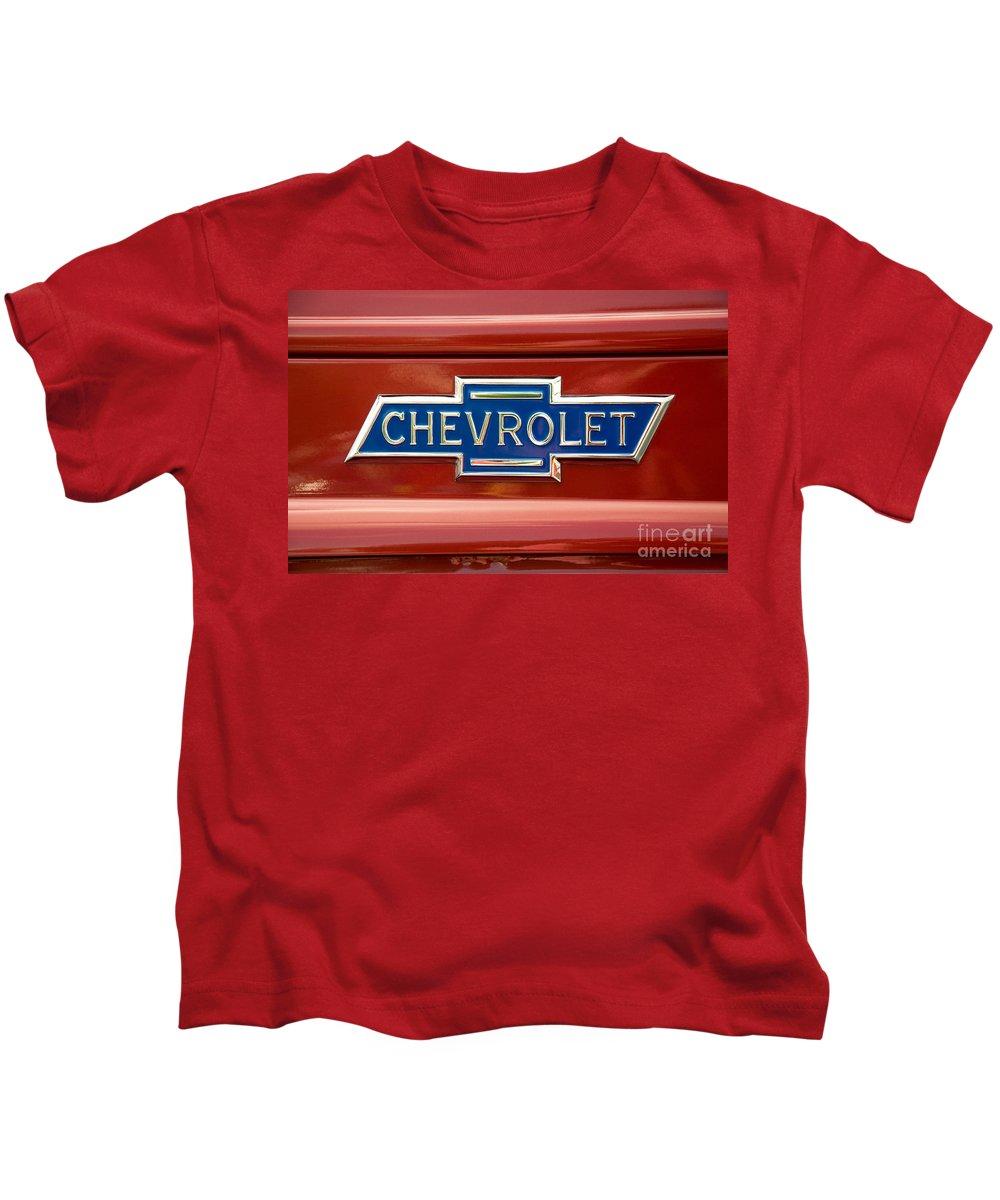 Chevrolet Kids T-Shirt featuring the photograph Chevrolet Emblem by Vivian Christopher