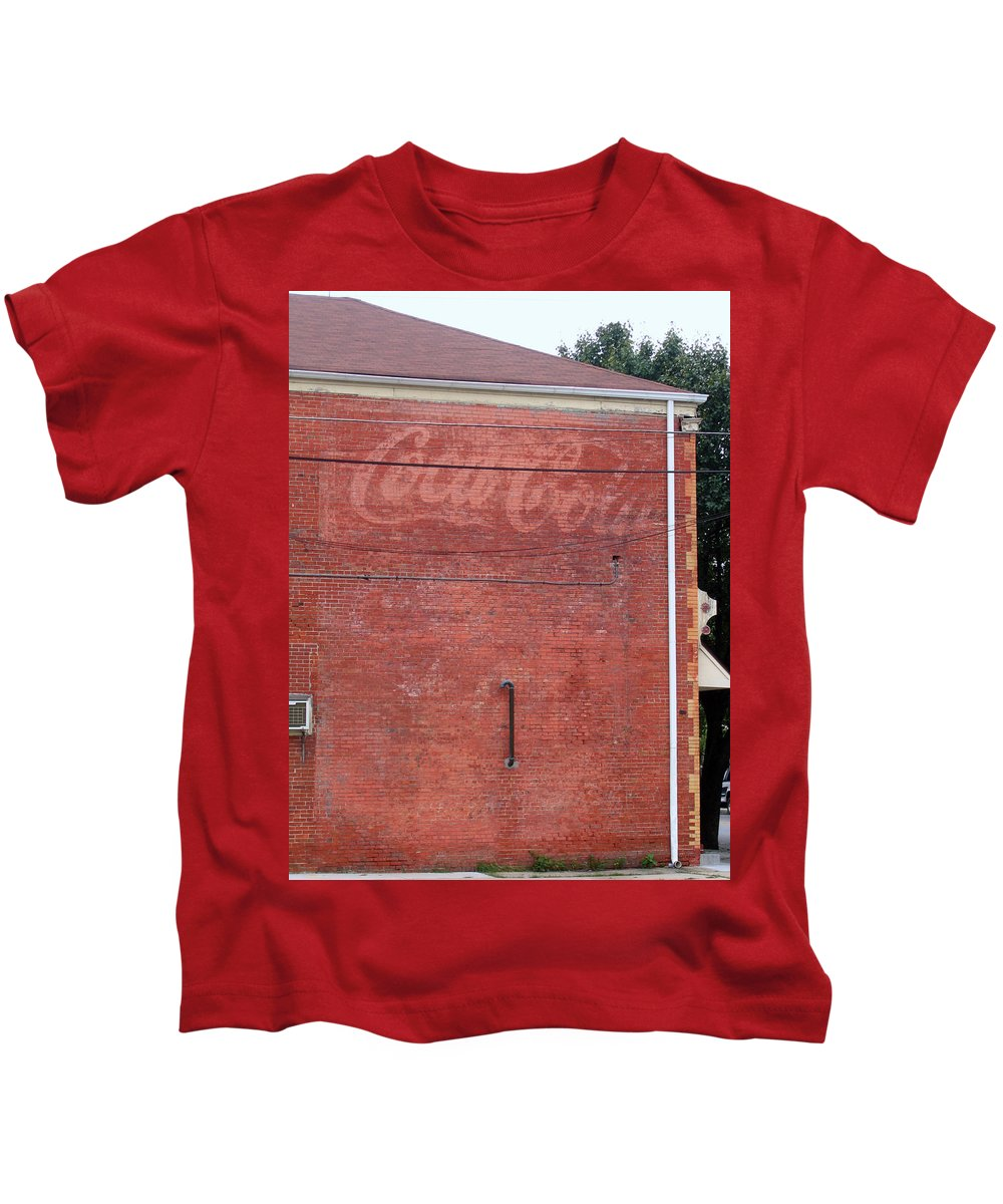 Coca Cola Kids T-Shirt featuring the photograph Coca Cola Faded by Denise Keegan Frawley