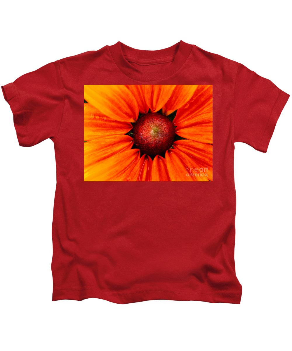 Gold Kids T-Shirt featuring the photograph Cone Flower by Chris Berry