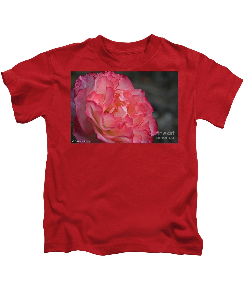 Flower Kids T-Shirt featuring the photograph Coral Ruffles by Susan Herber