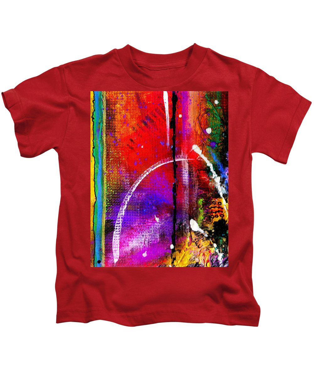 Fine Line Kids T-Shirt featuring the mixed media Crossing Over And Back Again by Angela L Walker