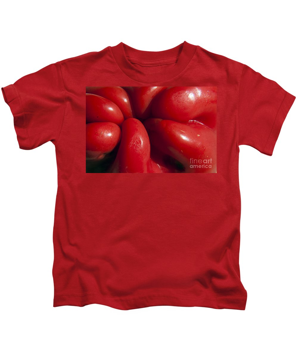 Pepper Kids T-Shirt featuring the photograph Crunchy Red Pepper by Darleen Stry