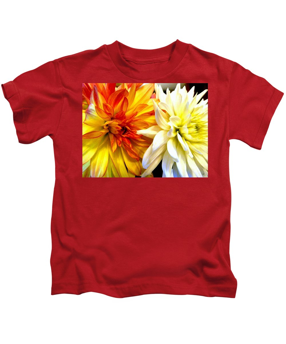 Dahlia Days Kids T-Shirt featuring the photograph Dahlia Days by Will Borden