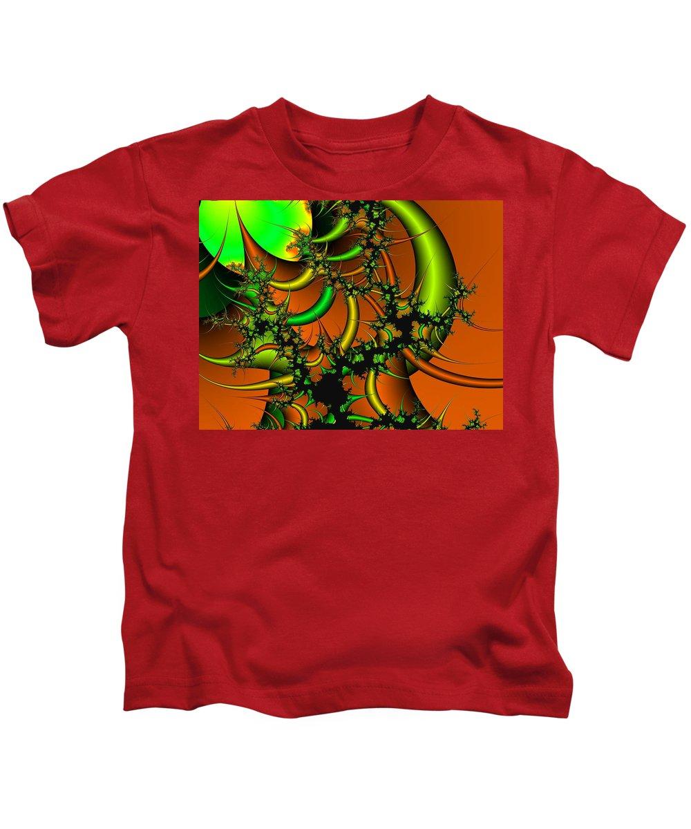 Digital Art Kids T-Shirt featuring the digital art Destruction Of Nature by Christy Leigh