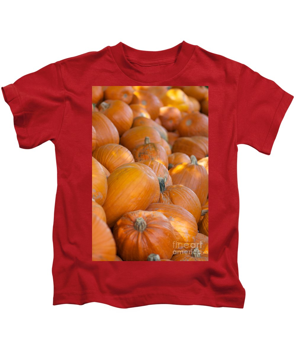 Pumpkin Kids T-Shirt featuring the photograph Fall Pumpkins by Brooke Roby