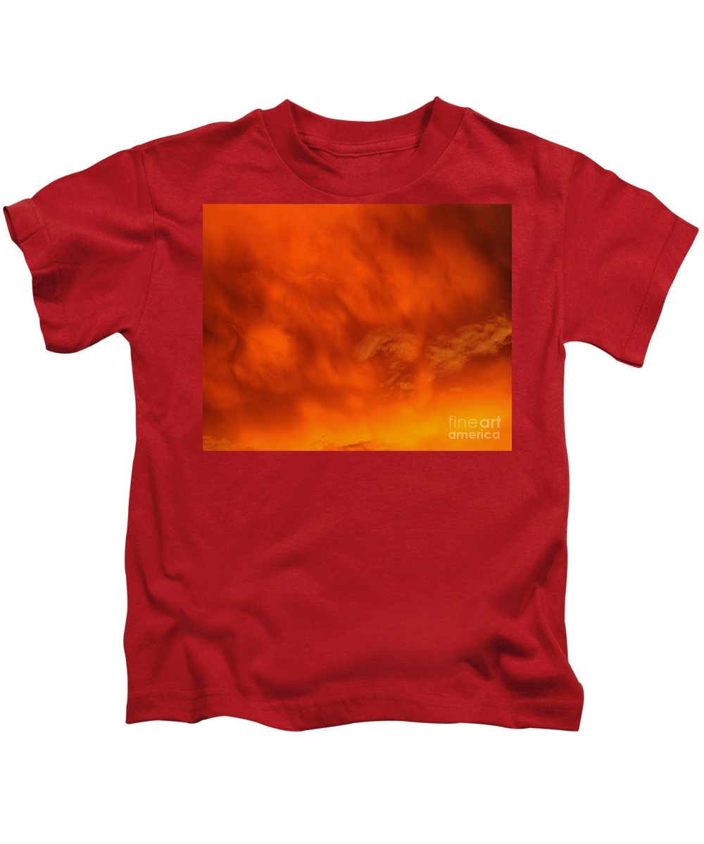 Cloud Kids T-Shirt featuring the photograph Fiery Clouds by Al Powell Photography USA