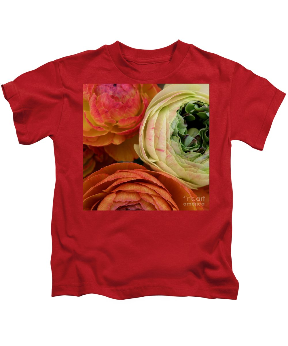 Three Flowers Kids T-Shirt featuring the photograph Harmony by Lainie Wrightson