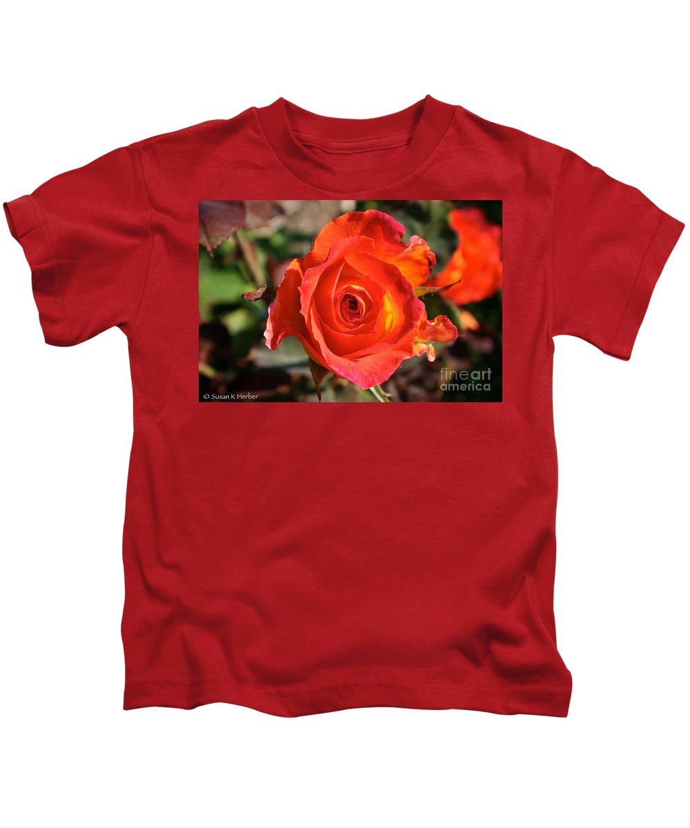 Outdoors Kids T-Shirt featuring the photograph Intense Rose by Susan Herber