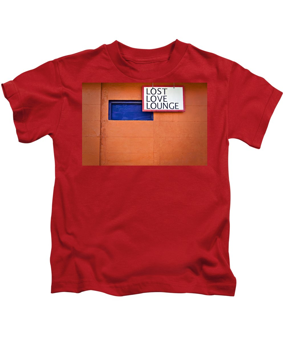 Abandoned Kids T-Shirt featuring the photograph Lost Love Lounge by Ray Laskowitz