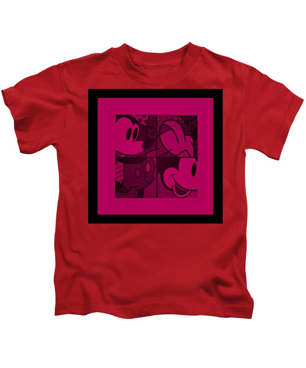 Mickey Mouse Kids T-Shirt featuring the photograph Mickey In Hot Pink by Rob Hans