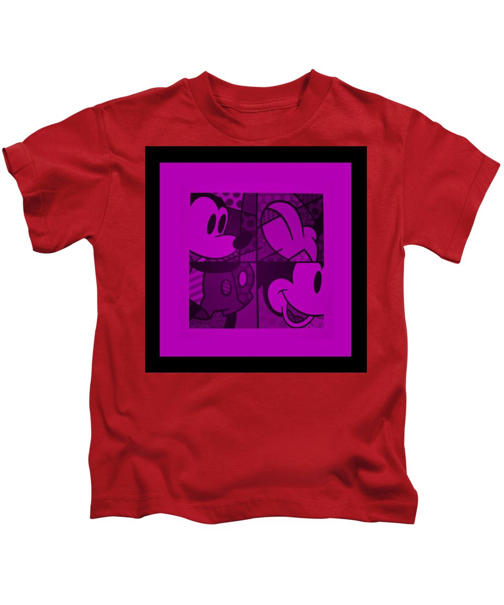 Mickey Mouse Kids T-Shirt featuring the photograph Mickey In Purple by Rob Hans