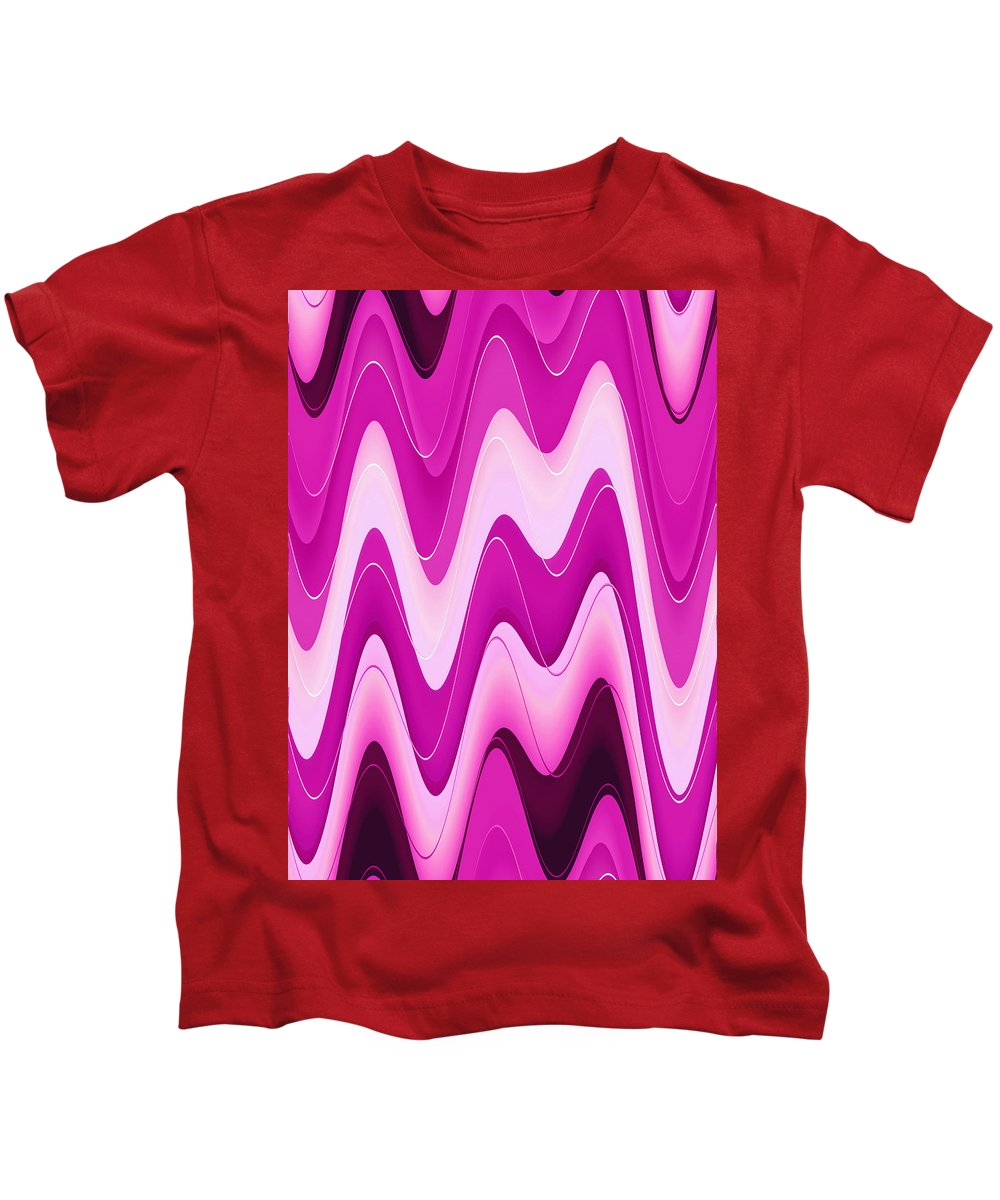 Moveonart! Global Gathering. Branch moodwaves -- Digital Abstract Art By Artist Jacob Kane -- Omnetra Kids T-Shirt featuring the digital art Moveonart Moodwaves by Jacob Kanduch