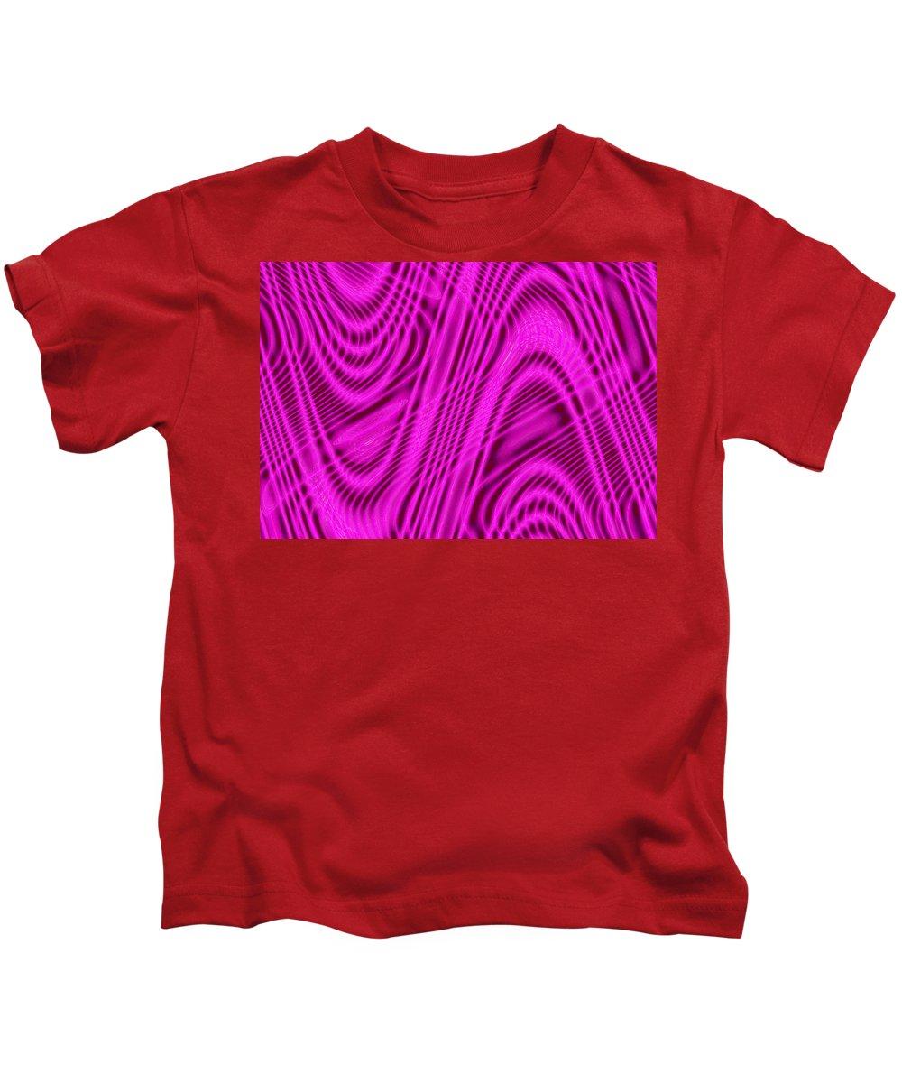 Moveonart! Global Gathering. -- Digital Abstract Art By Artist Jacob Kane -- Omnetra Kids T-Shirt featuring the digital art Moveonart Wavesforchange by Jacob Kanduch