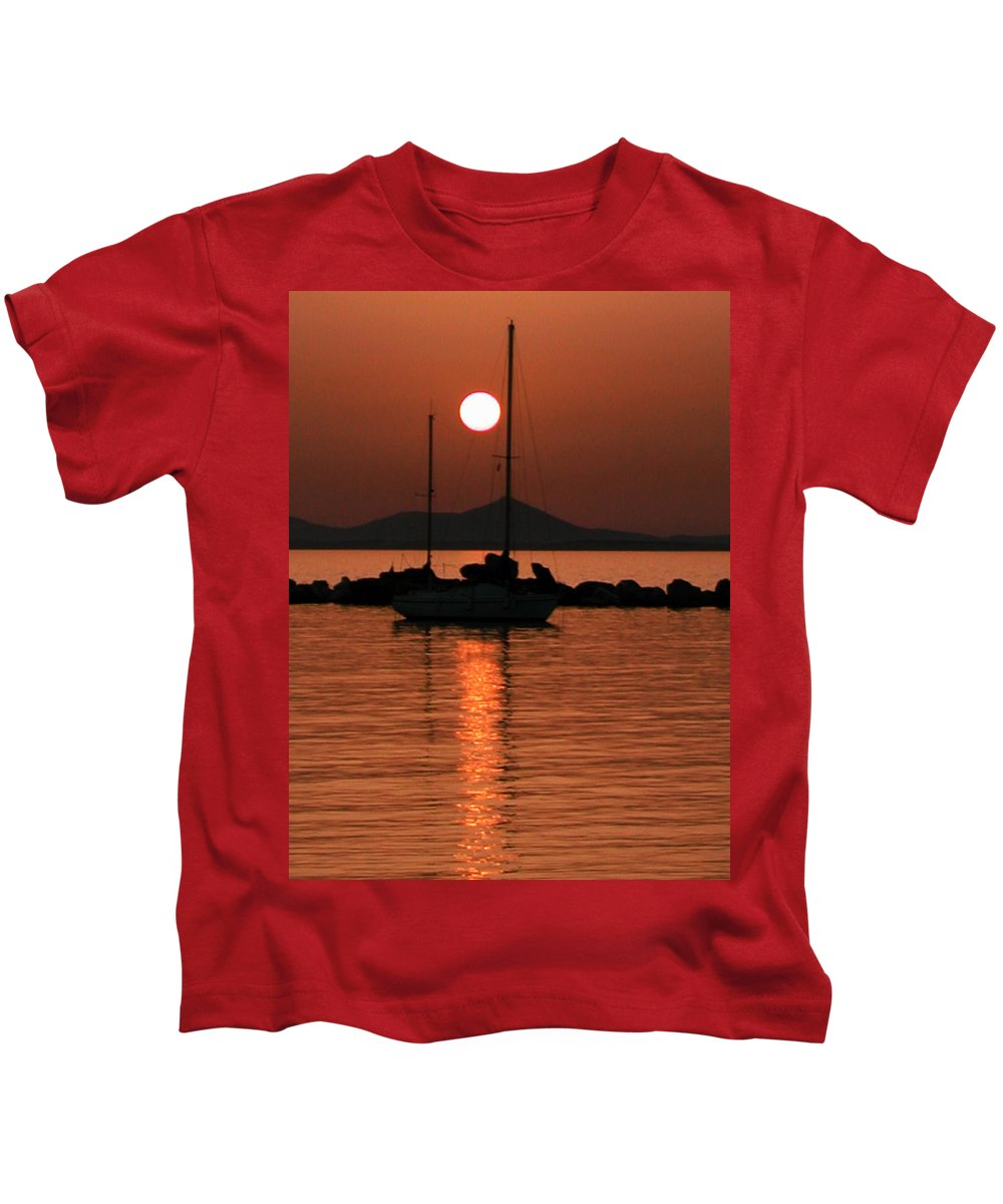 Coletteguggenheim Kids T-Shirt featuring the photograph Naxos Island Greece by Colette V Hera Guggenheim