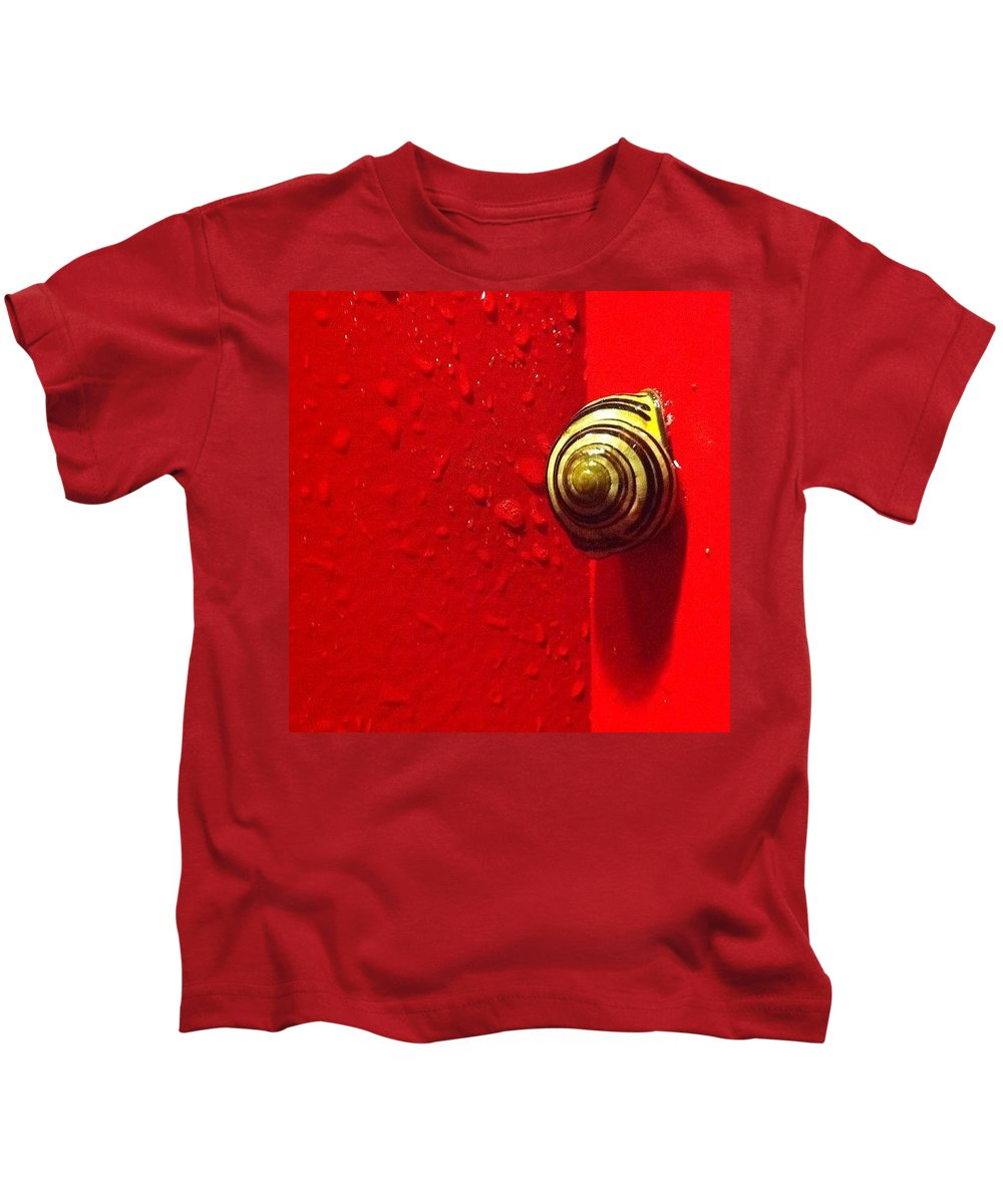 Nofilter Kids T-Shirt featuring the photograph Never A Shortage Of #snails Back Here by Katie Cupcakes