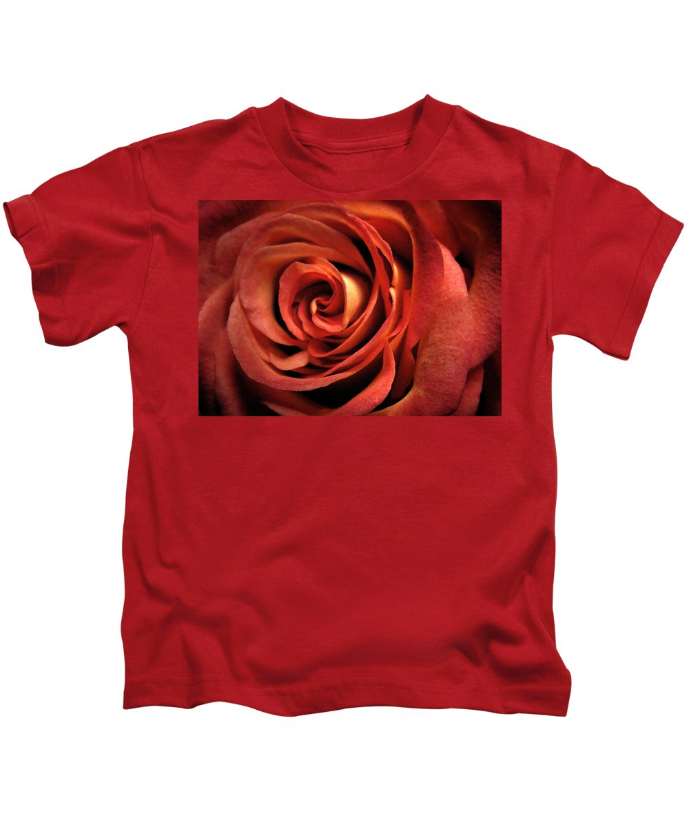 Rose Kids T-Shirt featuring the photograph Orange Rose by Nancy Griswold