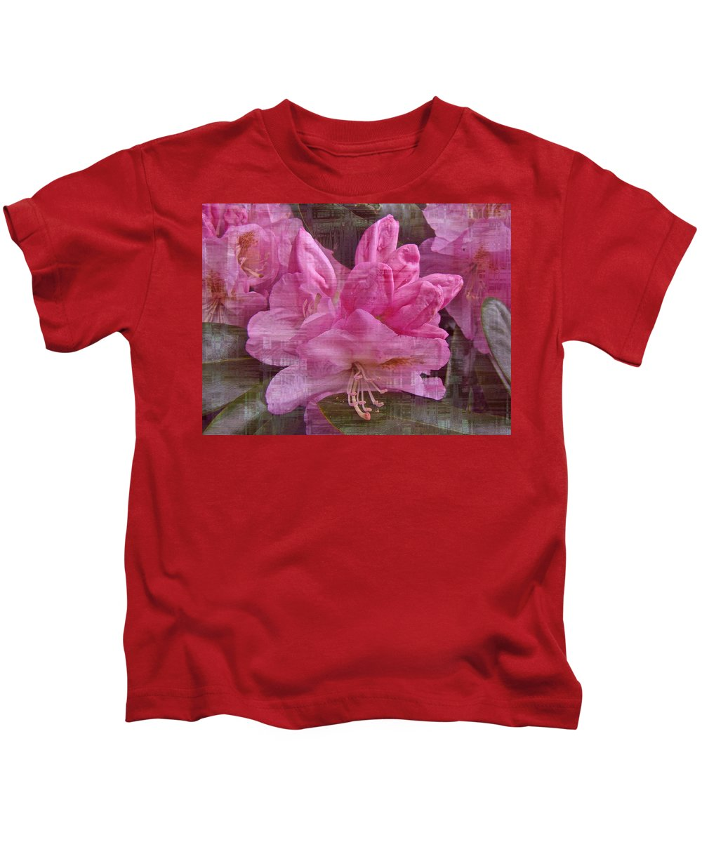 Azalea Kids T-Shirt featuring the photograph Pink Azaleas by Mother Nature