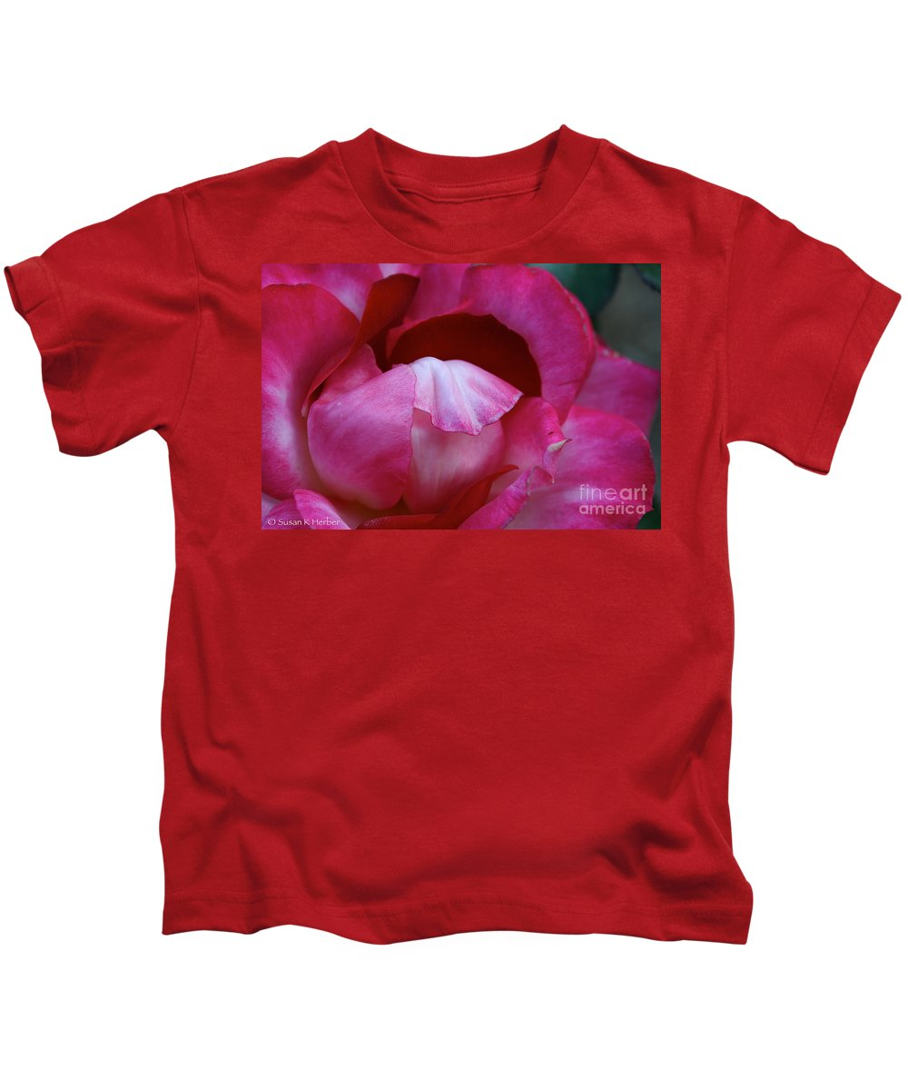 Flower Kids T-Shirt featuring the photograph Pink Silk by Susan Herber