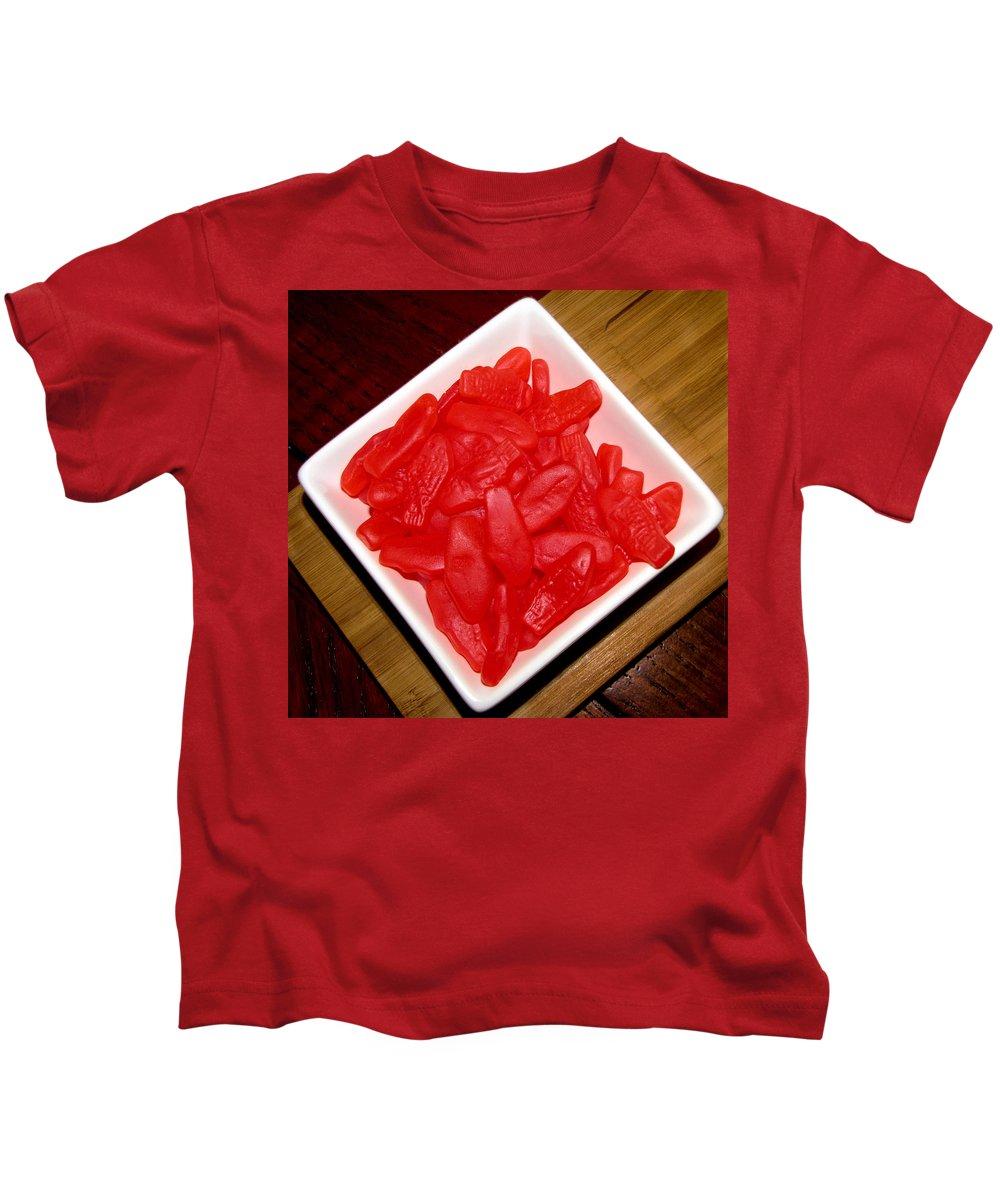 Sweddish Fish Kids T-Shirt featuring the photograph Plenty Of Fish by Denise Keegan Frawley