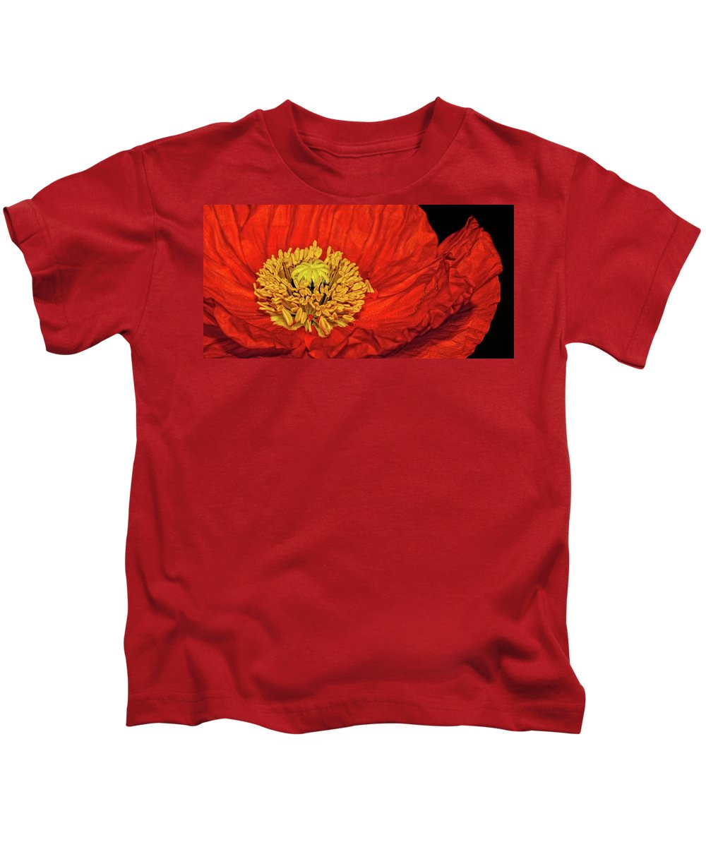 Poppy Kids T-Shirt featuring the photograph Red Poppy by Dave Mills