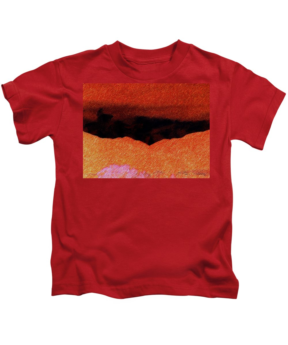 Abstract Kids T-Shirt featuring the photograph Rocky Mountains by Lenore Senior