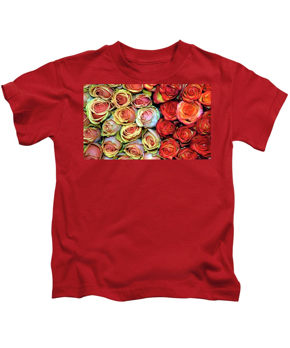 Red Rose Kids T-Shirt featuring the photograph Roses by Dave Mills