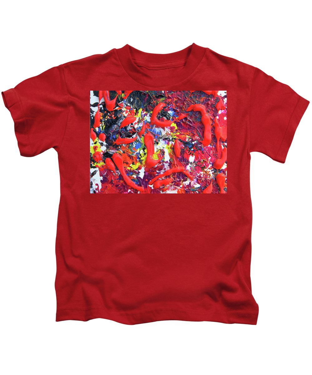 Self Portrait Kids T-Shirt featuring the painting Self Portrait 4 by Marwan George Khoury