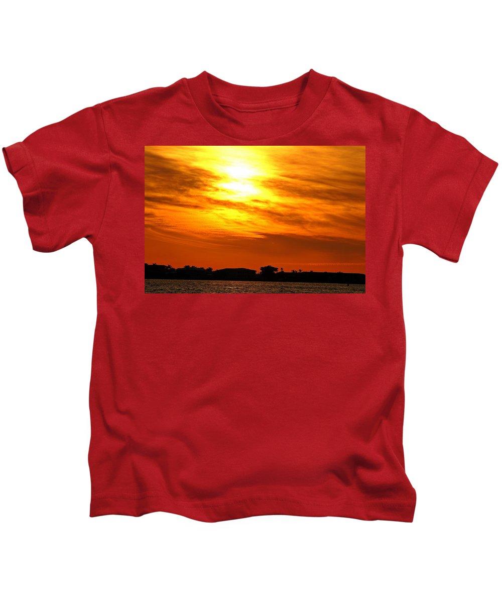 Sunset Kids T-Shirt featuring the photograph Sunset Ix by Joe Faherty