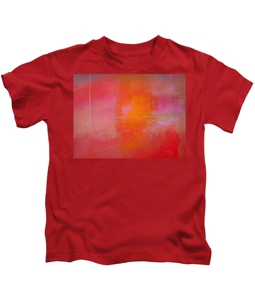 Sunset Kids T-Shirt featuring the painting Sunset River by Charles Stuart