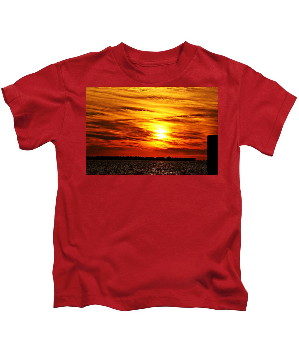 Sunset Kids T-Shirt featuring the photograph Sunset Xxx by Joe Faherty