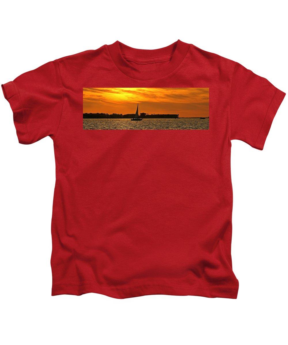 Sunset Kids T-Shirt featuring the photograph Sunset Xxxiii by Joe Faherty