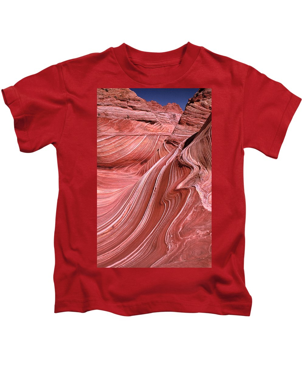 Sandstone Kids T-Shirt featuring the photograph Swirling Sandstone by Dave Mills