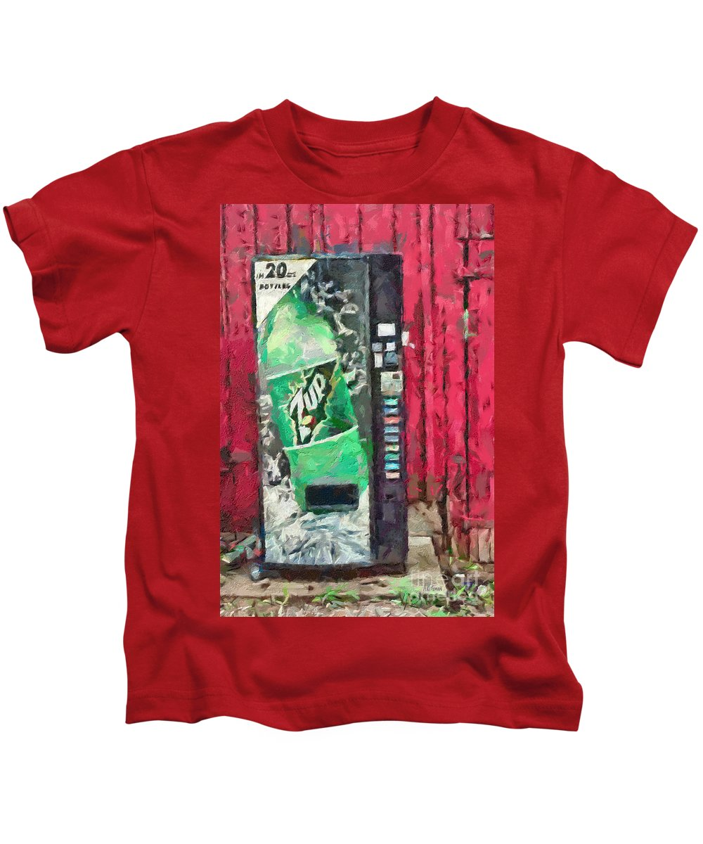 Barn Kids T-Shirt featuring the painting The Uncola by Anne Kitzman