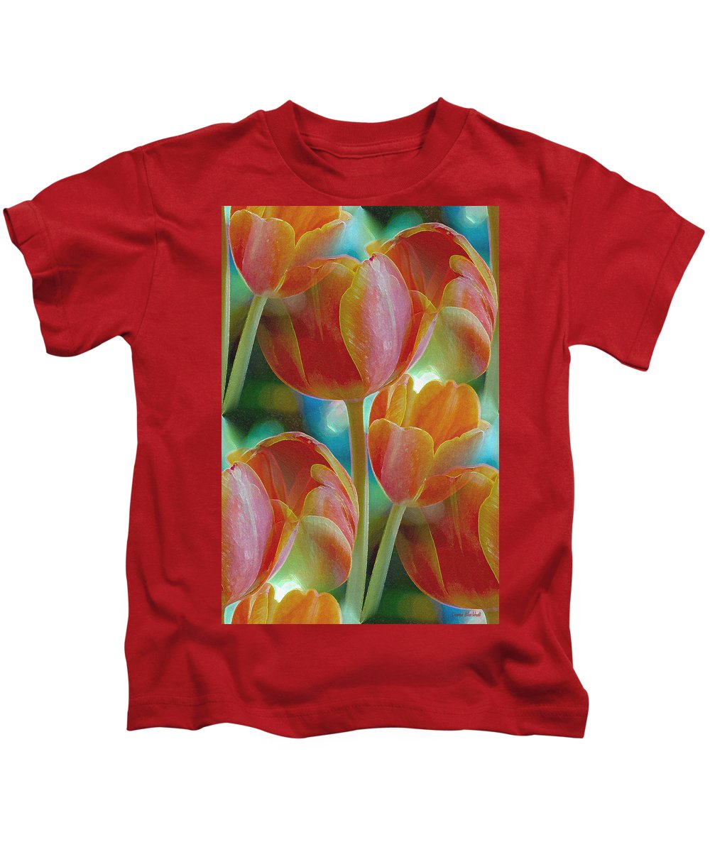 Tulip Kids T-Shirt featuring the photograph Tulip Fascination by Donna Blackhall
