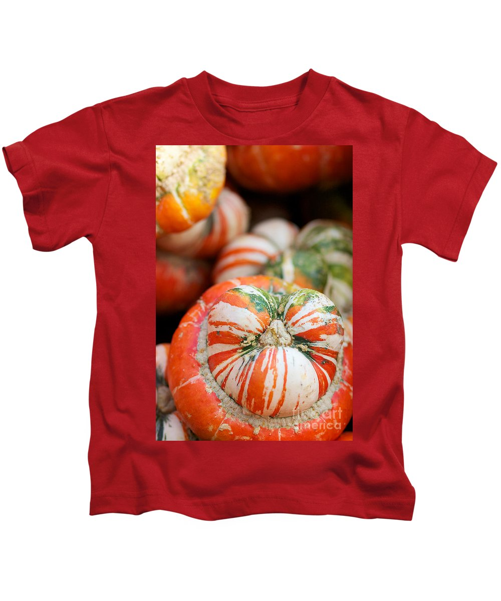 Turbin Squash Kids T-Shirt featuring the photograph Turban Squash by Brooke Roby