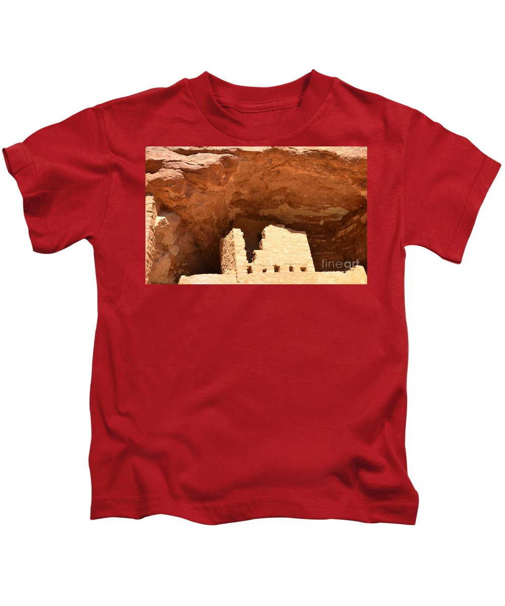 Cliff Kids T-Shirt featuring the photograph Upper Cliff Dwelling by Kathleen Struckle