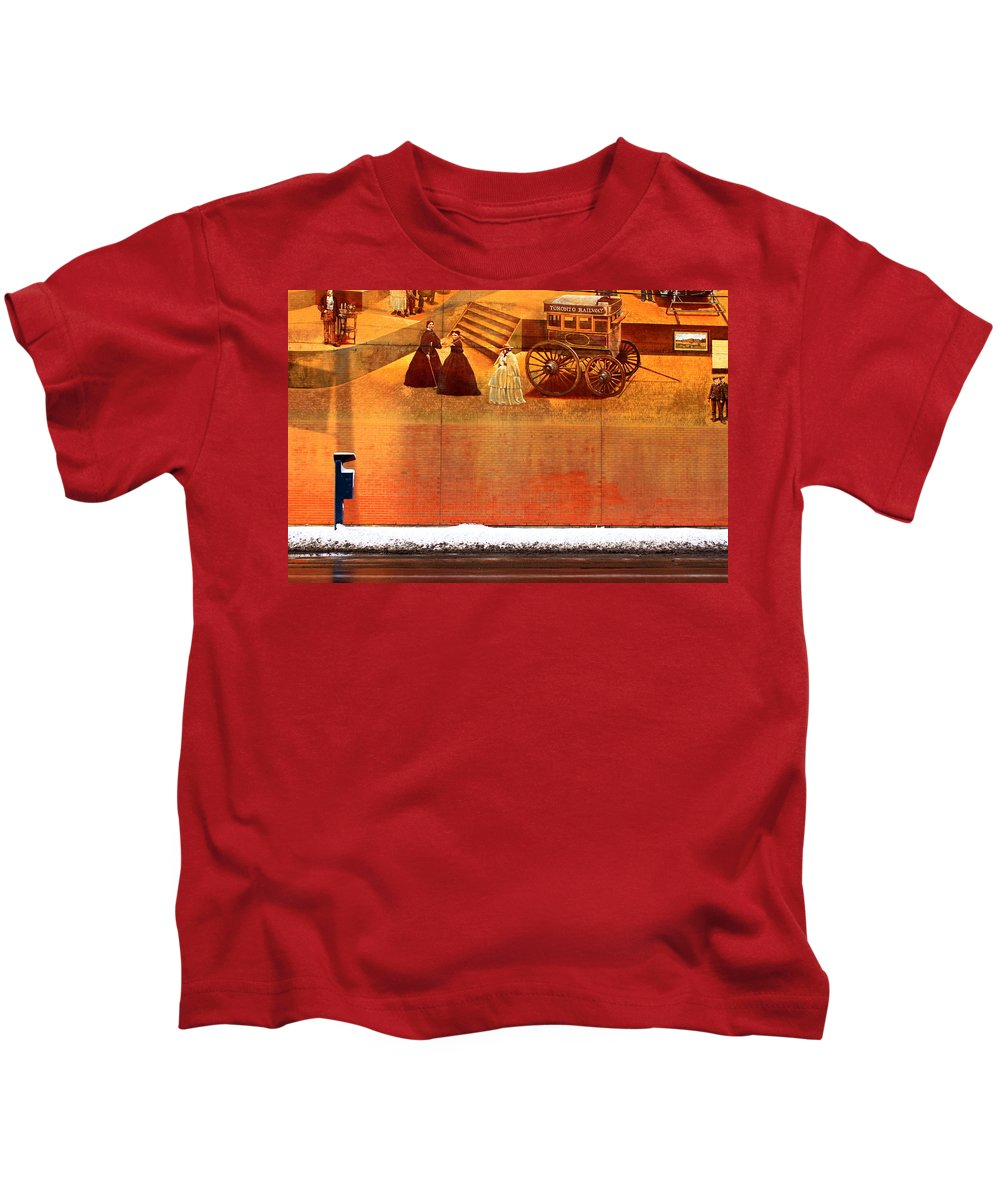 Urban Kids T-Shirt featuring the photograph Urban Nothingness by Valentino Visentini