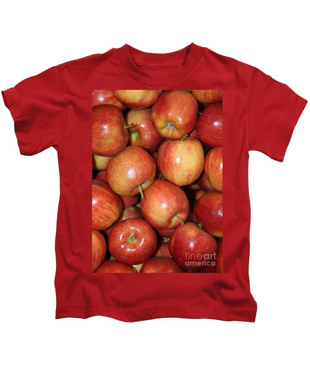 Apple Kids T-Shirt featuring the photograph Washington Apples by Carol Groenen