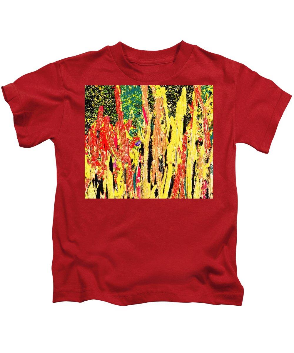 Cactus Kids T-Shirt featuring the digital art Bridgestone Cacti by Ian MacDonald