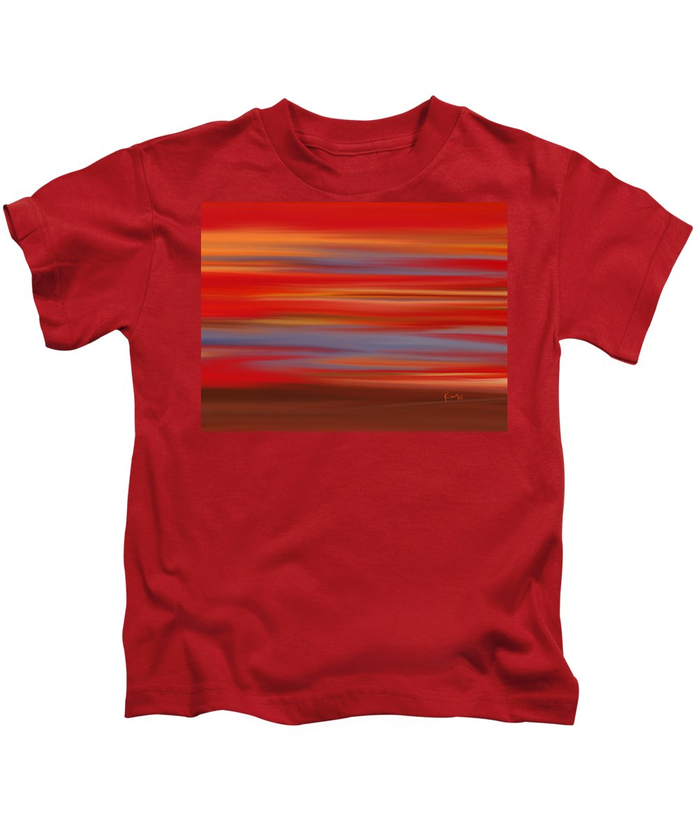Abstract Kids T-Shirt featuring the digital art Evening In Ottawa Valley by Rabi Khan