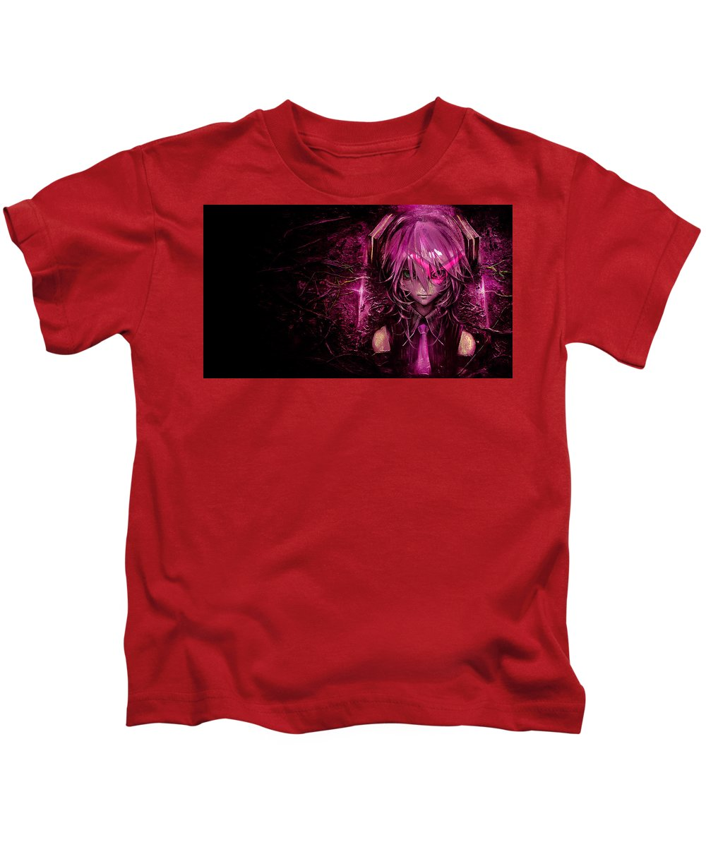 Anime Kids T-Shirt featuring the digital art Anime by Dorothy Binder