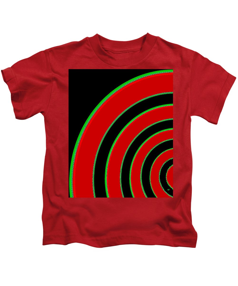 Abstract Kids T-Shirt featuring the digital art Candid Color 1 by Will Borden
