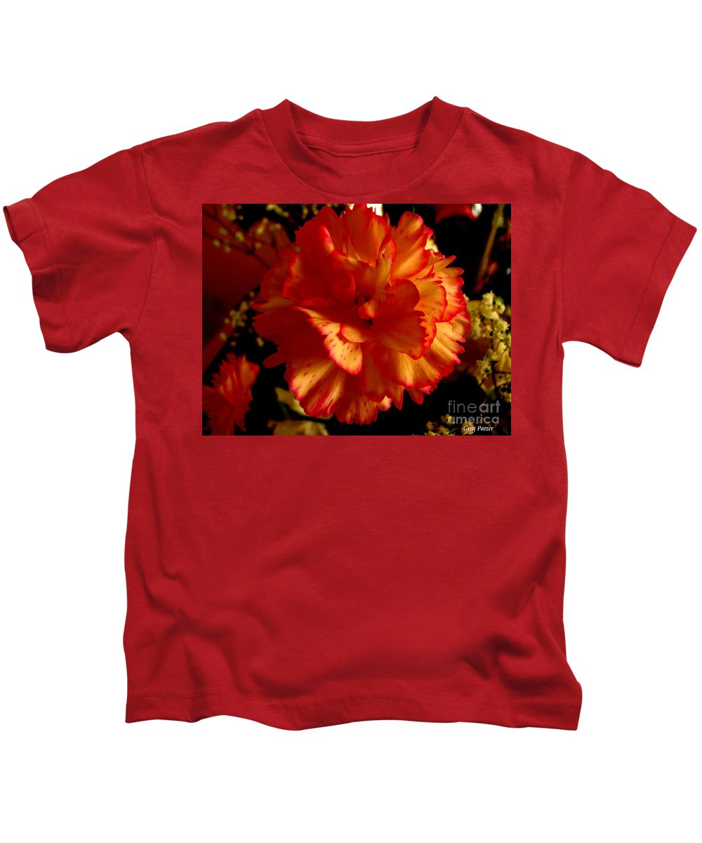 Patzer Kids T-Shirt featuring the photograph Carnation by Greg Patzer