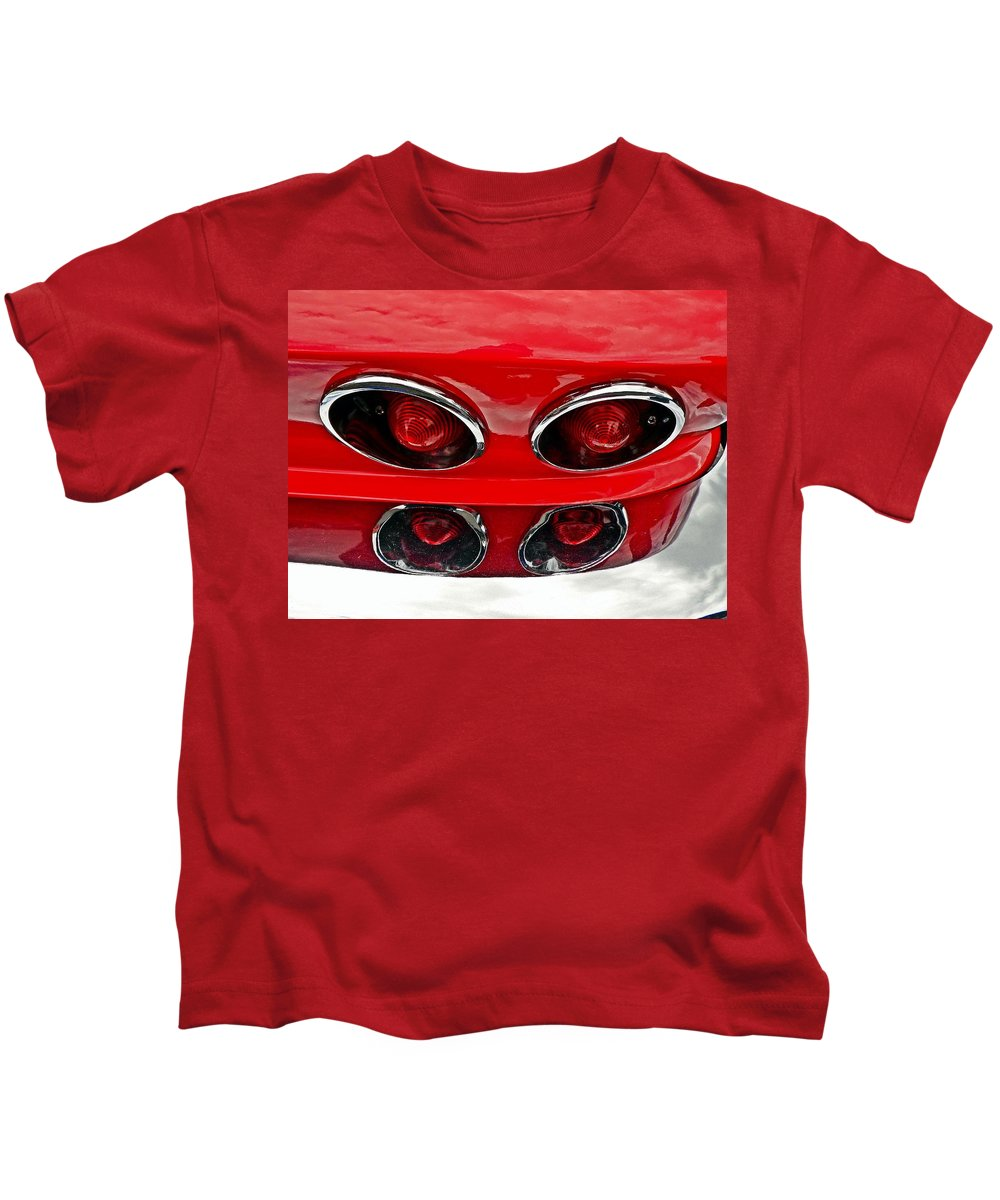 Cars Kids T-Shirt featuring the photograph Classic Car Tail Lights by Karl Rose