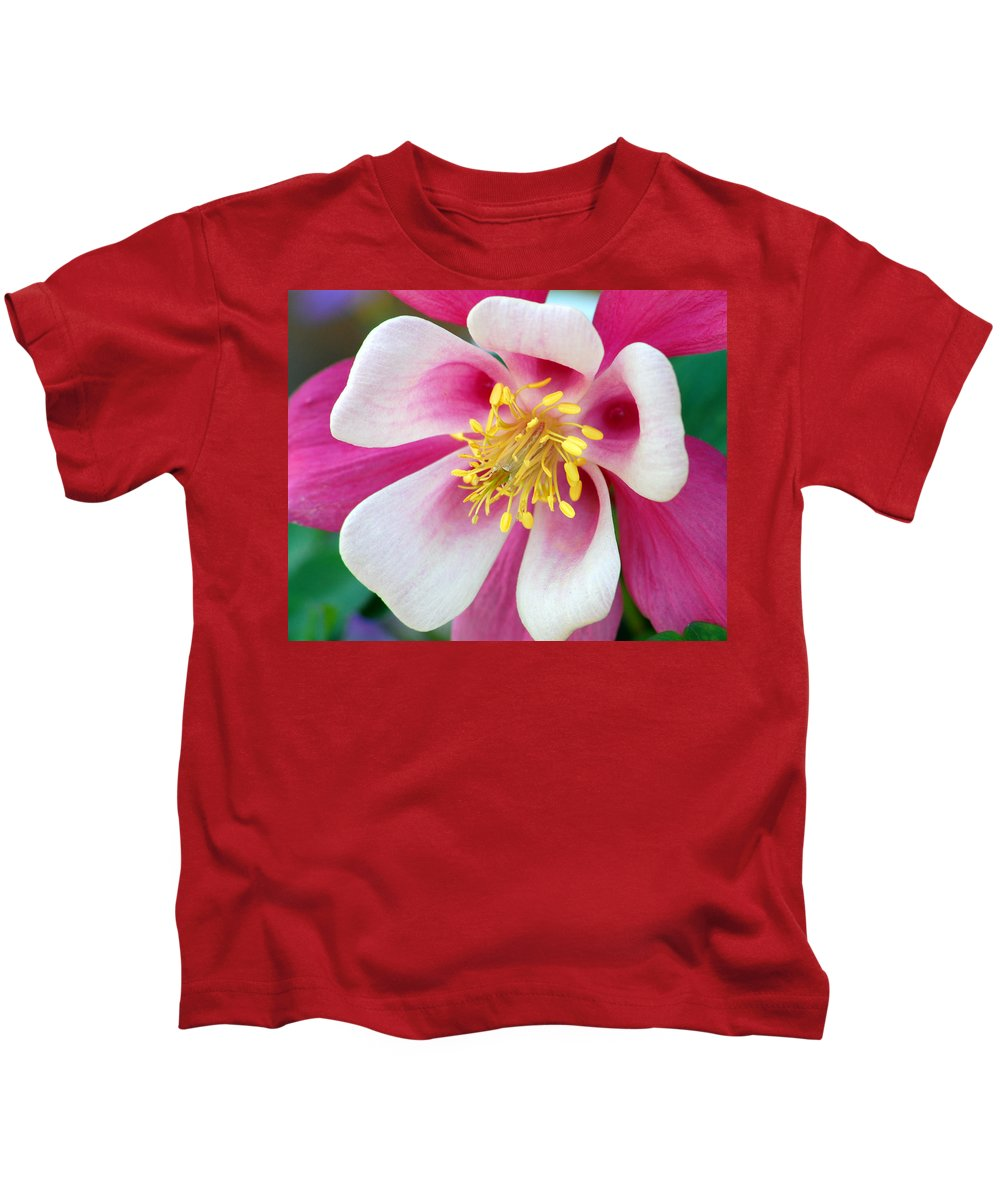 Columbine Kids T-Shirt featuring the photograph Columbine Flower 1 by Amy Fose