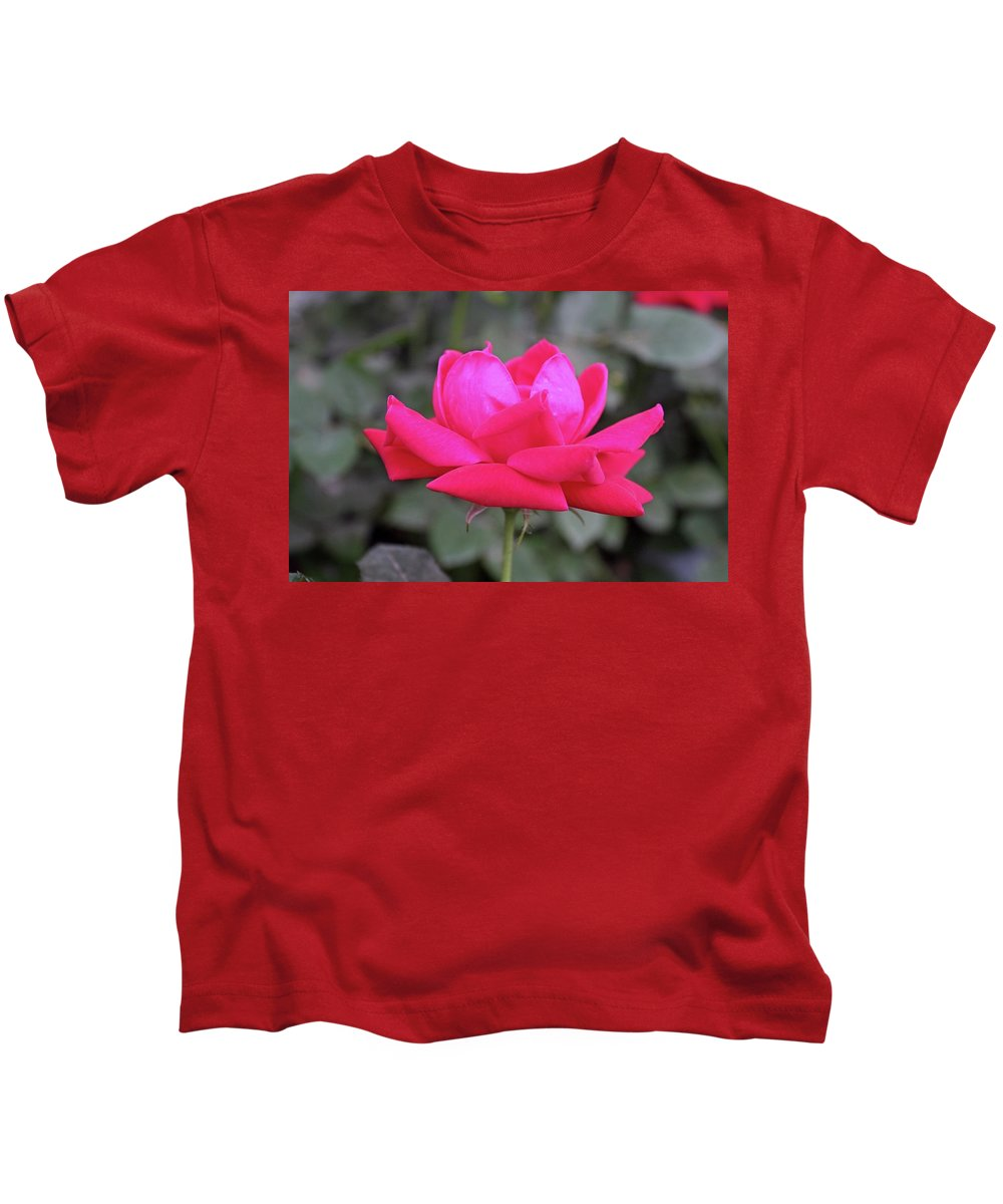Rose Kids T-Shirt featuring the photograph Desire In The Sun by Michiale Schneider