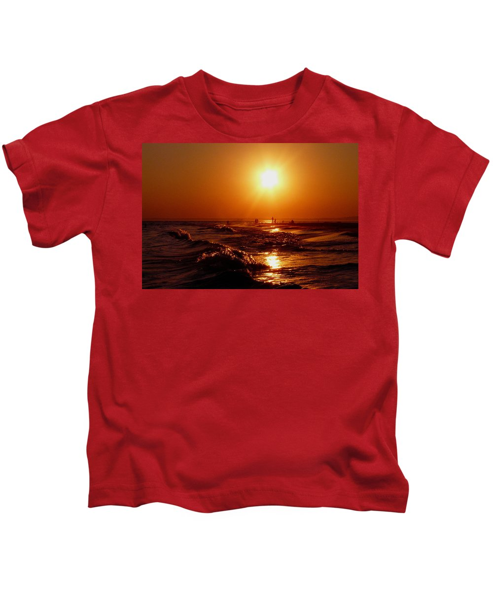 Sunset Kids T-Shirt featuring the photograph Extreme Blazing Sun by Kendall Eutemey