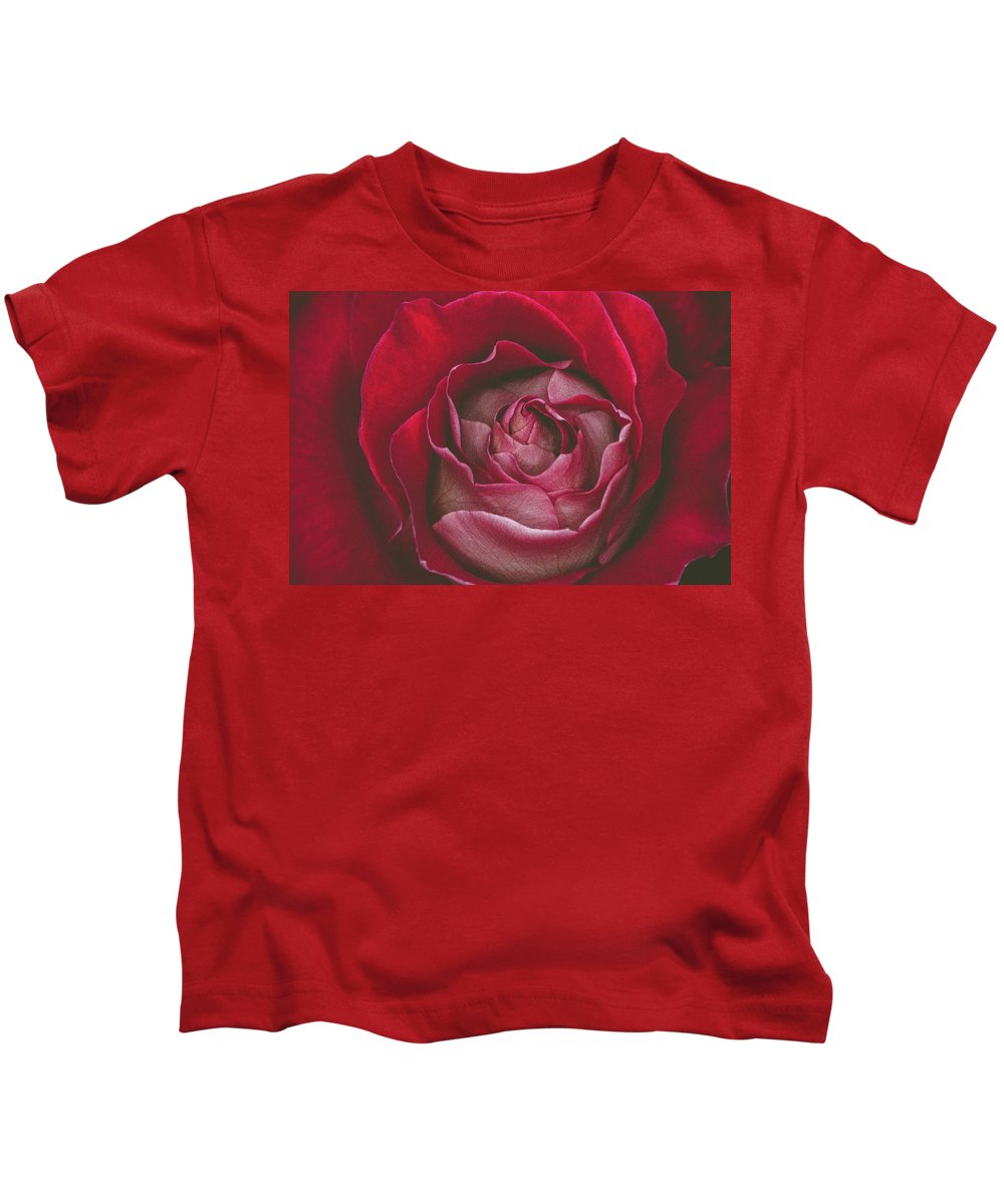Bloom Kids T-Shirt featuring the photograph First Rose Bloom by Anna Marie