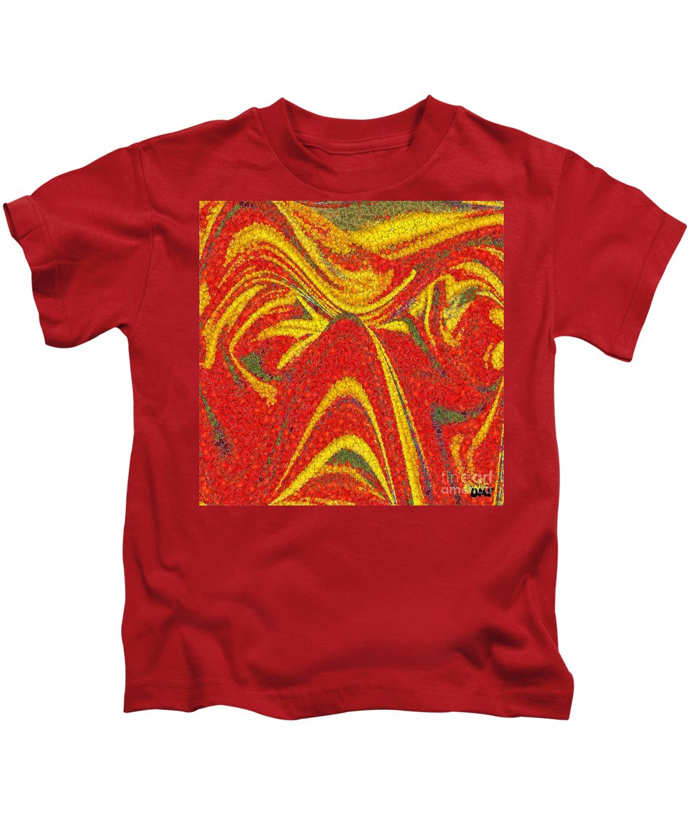 Modern Painting Kids T-Shirt featuring the painting Hot Day by Dragica Micki Fortuna