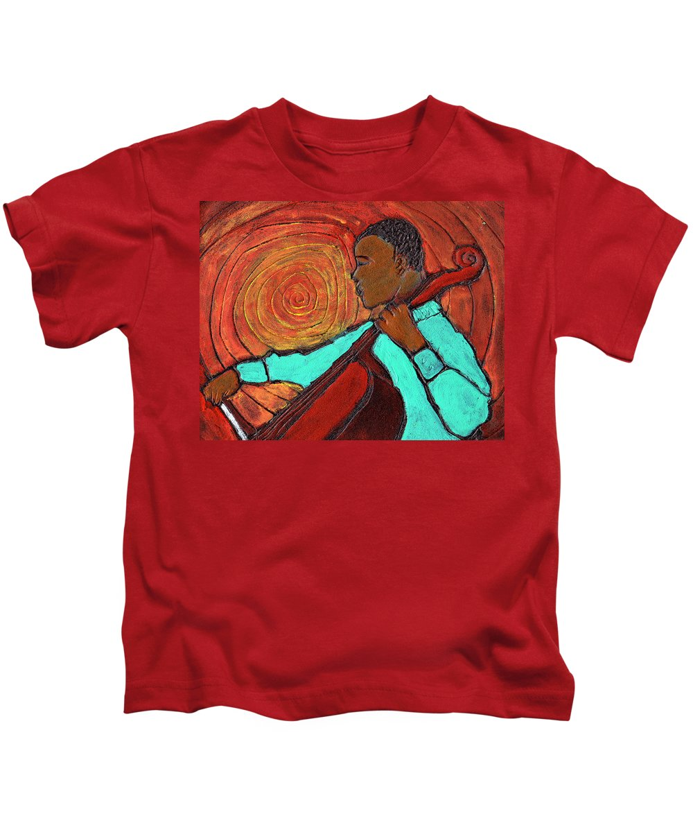 Jazz Kids T-Shirt featuring the painting Hot Jazz by Wayne Potrafka